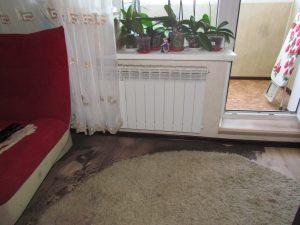 Пострадала внутренняя отделка комнаты, мебель, имущество.