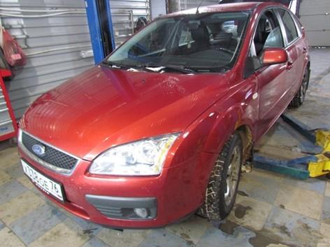 Экспертиза качества ремонта автомобиля, визуальный осмотр - вид спереди
