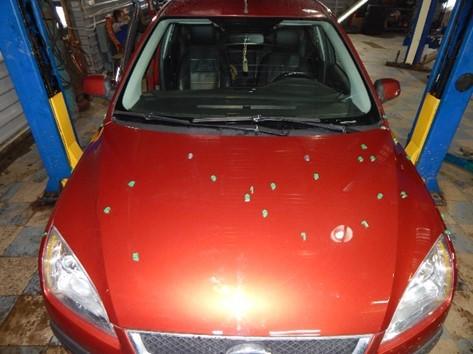 Оценка качества ремонта автомобиля. Расположение маркеров
